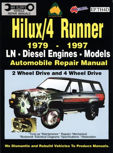 9780958727877: Toyota Hilux/4 Runner Diesel 1979-1997 Auto Repair Manual-ln, Diesel Eng 2 and 4 Wheel Drive