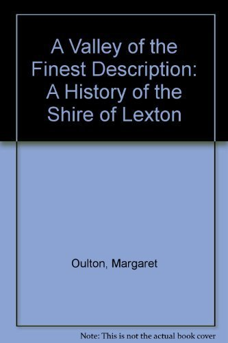 9780958872003: A valley of the finest description: A history of the shire of Lexton