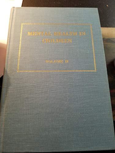 Mental Health in Children, Volume 2: Sankar, D.V. Siva,