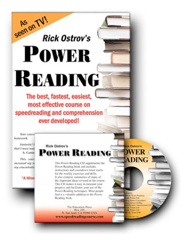 9780960170647: Power Reading Course Book with Audio Countdown Timing CD: The Best, Fastest, Easiest, Most Effective Course on Speedreading and Comprehension Ever Developed!