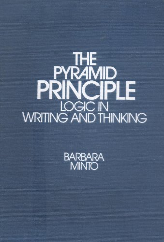 9780960191024: Title: The pyramid principle Logic in writing and thinkin