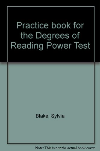 9780960280063: Practice book for the Degrees of Reading Power Test