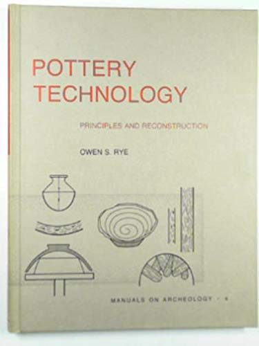 Pottery Technology: Principles and Reconstruction (Manuals on: Rye, Owen S.