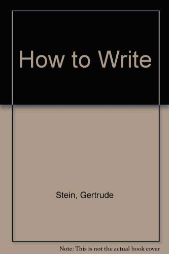 9780960332410: How to Write
