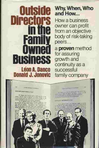 9780960361434: Outside Directors in Family Owned Business