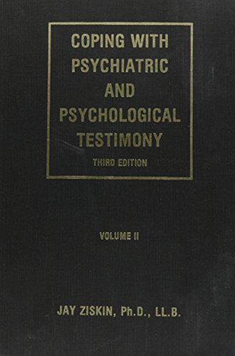 9780960363032: Coping with Psychiatric and Psychological Testimony, Vol. 2