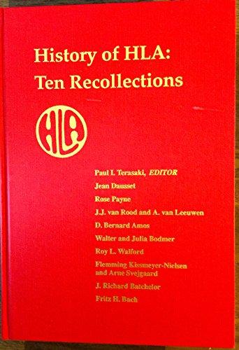 History of HLA : Ten Recollections: Terasaki