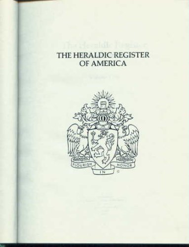 9780960566815: The Heraldic Register of America (Volume 1)