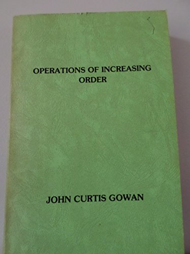 9780960682249: Operations of Increasing Order and Other Essays on Exotic Factor of Intellect Unusual