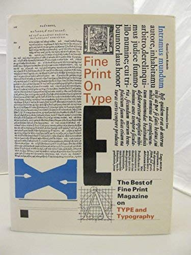 9780960729012: Fine Print on Type: The Best of Fine Print on Type and Typography, 1977-1988