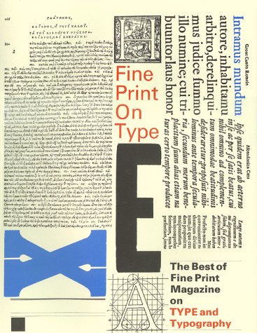 9780960729029: Fine Print on Type: The Best of Fine Print Magazine on Type and Typography