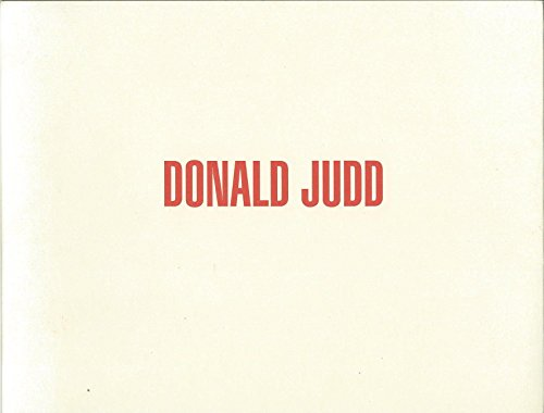 9780960821013: Donald Judd