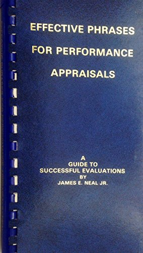 9780960900633: Effective Phrases for Performance Appraisals: A Guide to Successful Evaluations