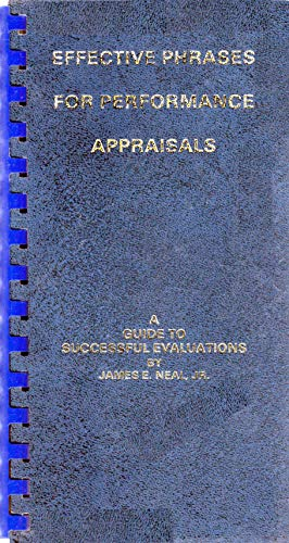 9780960900640: Effective Phrases for Performance Appraisals: A Guide to Successful Evaluations