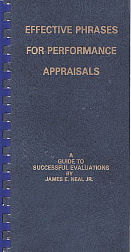 9780960900664: Effective Phrases for Performance Appraisals: A Guide to Successful Evaluations