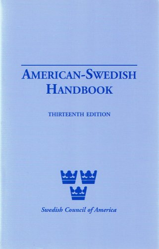 9780960962075: American-Swedish Handbook thirteenth edition