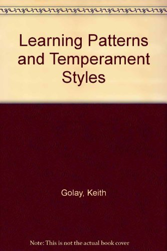 9780961007607: Learning Patterns and Temperament Styles