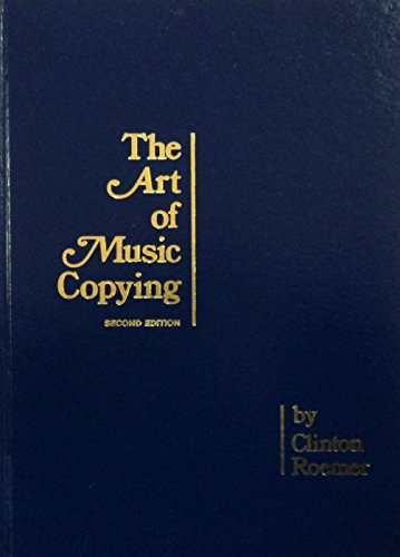 9780961268435: The Art of Music Copying: The Preparation of Music for Performance