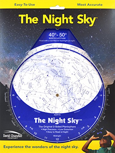 9780961320744: The Night Sky 40�-50� (Large) Star Finder