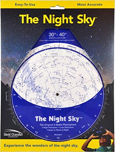 9780961320751: The Night Sky 30°-40° (Large; North Latitude)