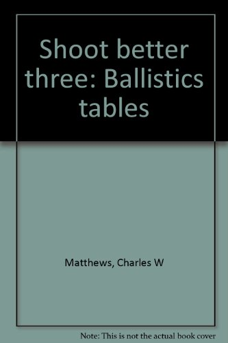 9780961373436: Shoot Better Three: Ballistics Tables