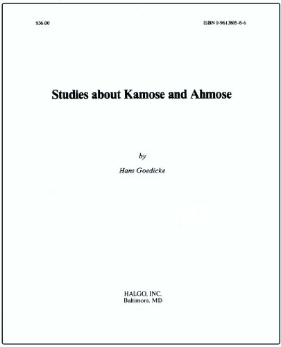 9780961380588: Studies about Kamose and Ahmose