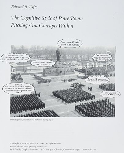 The Cognitive Style of PowerPoint: Tufte, Edward R.