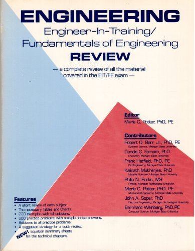 9780961476007: Fundamentals of Engineering Review: A Complete Review of all of the Material Covered in the FE/EIT Exam