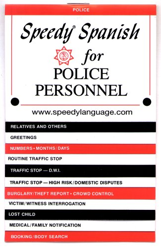 9780961582982: Speedy Spanish for Police Personnel (Speedy Language Phrase Books) (Spanish Edition)