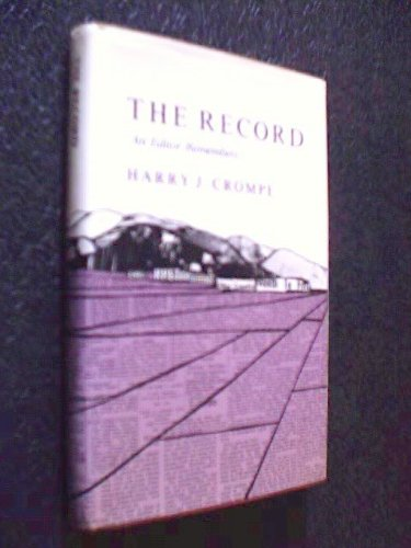 9780961647001: The Record: An Editor Remembers
