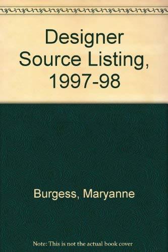 Designer Source Listing, 1997-98: Burgess, Maryanne