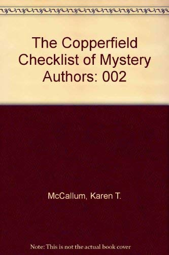 9780961703714: The Copperfield Checklist of Mystery Authors