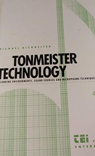 9780961720001: Tonmeister Technology: Recording Environments, Sound Sources, and Microphone Techniques