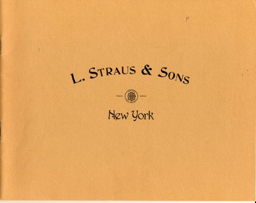 L. Straus & Sons: 1893 Cut Glass Catalog: Institution, Smithsonian; Sons, L. Straus &; American...