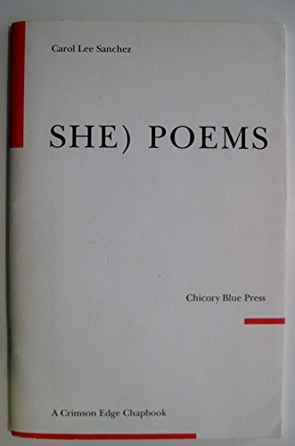 9780961911195: She) Poems (Crimson Edge Chapbooks)