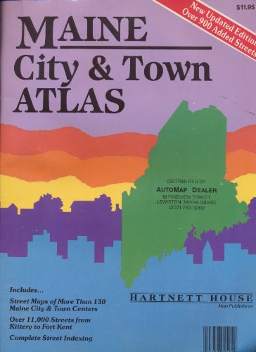 9780961965648: Maine city & town atlas