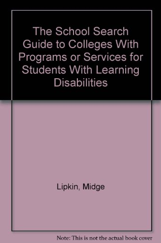 Colleges With Programs or Services for Students: Lipkin, Midge