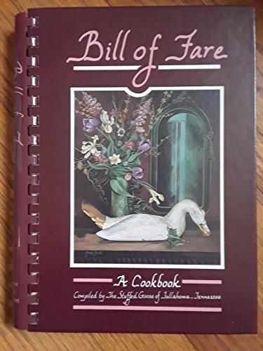 9780962049804: Bill of Fare : A Cookbook
