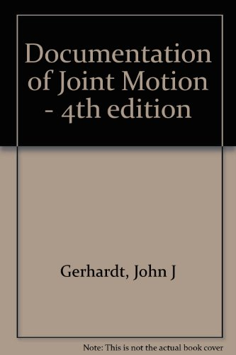 9780962173653: Documentation of Joint Motion - 4th edition