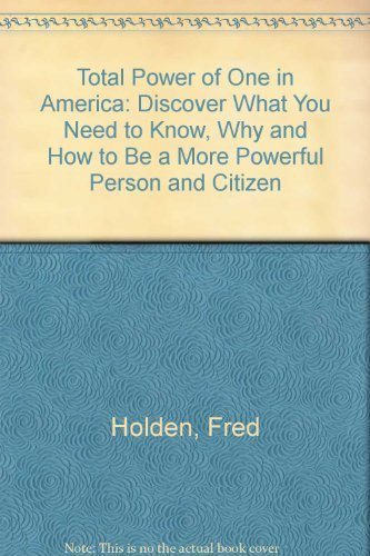 9780962176722: Total Power of One in America, 2nd Ed.