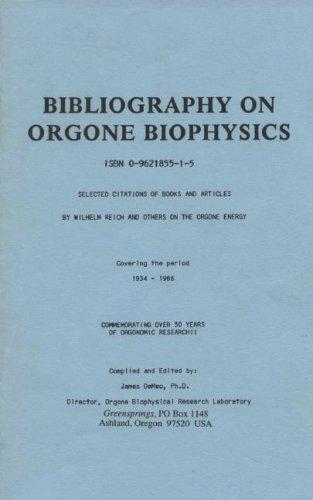 9780962185519: Bibliography on Orgone Biophysics
