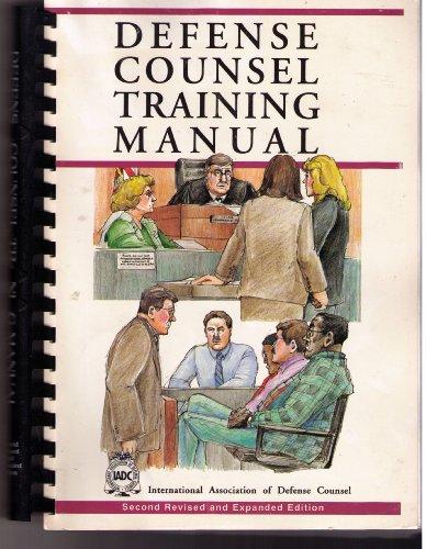 Defense counsel training manual