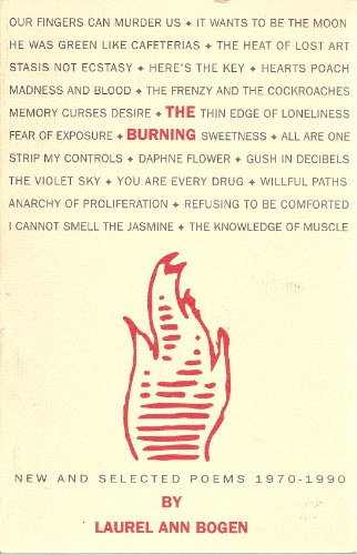 9780962284748: The Burning: New and Selected Poems, 1970-1990
