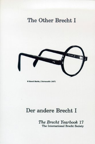 The Other Brecht I: The Brecht Yearbook