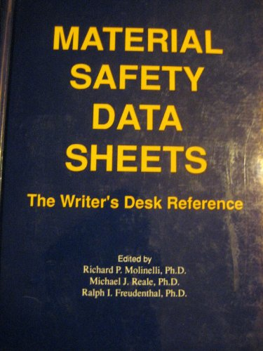 9780962381331: Material Safety Data Sheets: The Writer's Desk Reference
