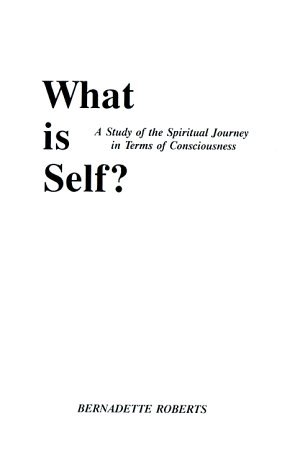 9780962399305: What Is Self: A Study of the Spiritual Journey in Terms of Consciousness