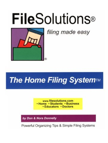9780962420214: FileSolutions Filing Made Easy The Home Filing System