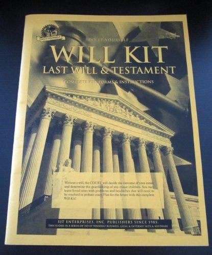9780962545603: Will Kit: Last Will & Testament