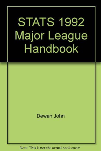9780962558139: STATS 1992 Major League Handbook