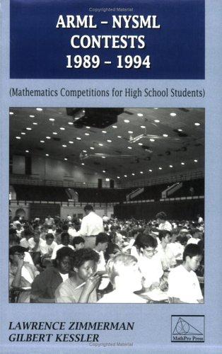 9780962640162: ARML-NYSML Contests, 1989-1994 (Contests in Mathematics)